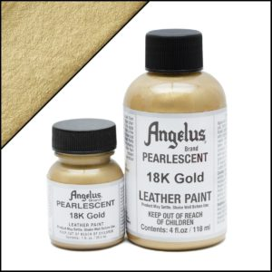 Золотая краска для кроссовок Angelus Pearlescent 1 oz (29 мл) – 18K Gold 455