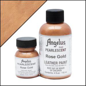 Золотая краска для кроссовок Angelus Pearlescent 1 oz (29 мл) – Rose Gold 456