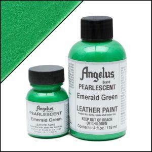 Зеленая краска для кроссовок Angelus Pearlescent 1 oz (29 мл) – Emerald Green 457