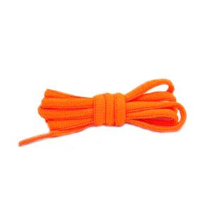Шнурки овальные 120см – Кислотно оранжевые