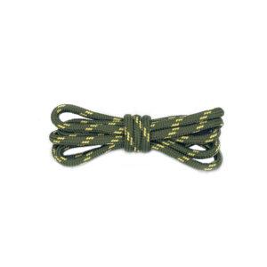 Круглые двухцветные шнурки 120см – Зелено-желтые