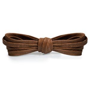 Плоские вощеные шнурки 100 см – Рыже-коричневые