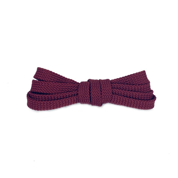 Плоские шнурки 120 см – Темно-красные
