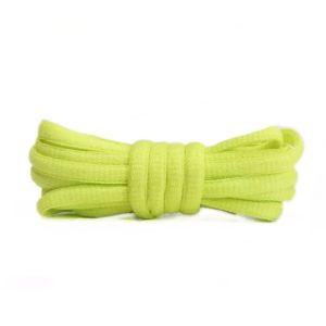 Шнурки овальные 120см – Кислотно желтые