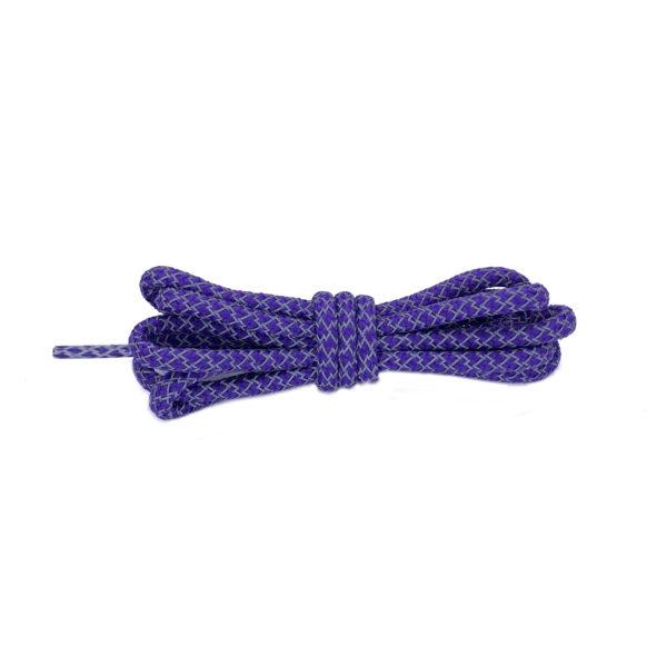 Круглые светоотражающие шнурки 120см – Фиолетовые