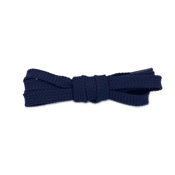 Плоские шнурки 120 см – Темно-синие