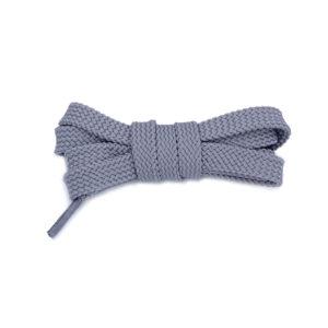 Плоские шнурки 100 см – Светло-серые