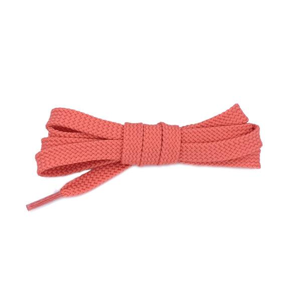 Плоские шнурки 120 см – Коралловые