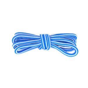 Круглые двухцветные шнурки 120см – Бело-голубые
