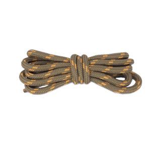Круглые двухцветные шнурки 120см – Коричнево-рыжие