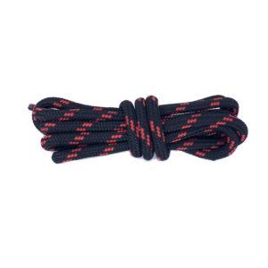 Круглые двухцветные шнурки 120см – Красно-черные