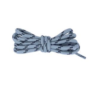 Круглые двухцветные шнурки 120см – Черно-серые