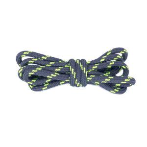 Круглые двухцветные шнурки 120см – Серо-зеленые