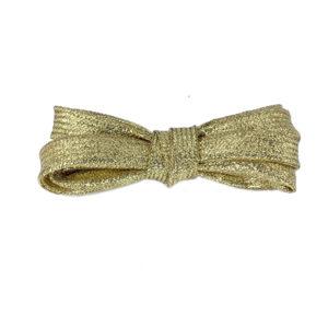 Плоские шнурки металлик 110 см – Золотые