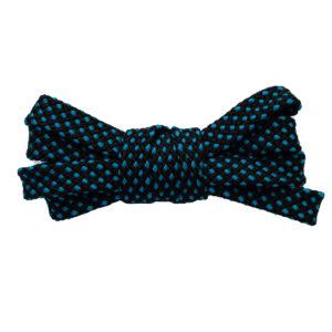 Двухцветные шнурки черно-синие 100 см