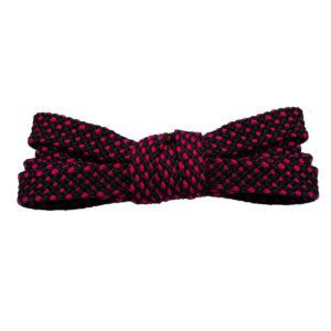 Двухцветные шнурки черно-розовые 100 см
