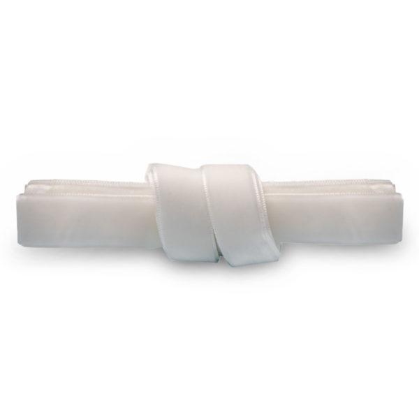Бархатные шнурки 120 см ширина 15 мм – белые