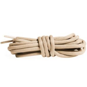 Круглые гладкие шнурки 120см – Бежевые