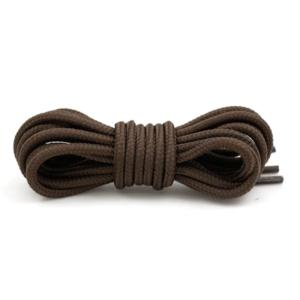Круглые плетеные шнурки 120см – Коричневый