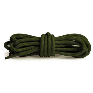 Круглые плетеные шнурки 120см – Зеленый хаки