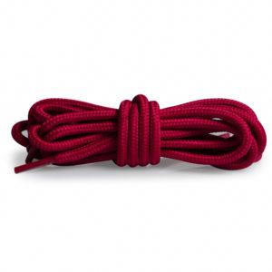 Круглые плетеные шнурки 120см – Вишнево-красный