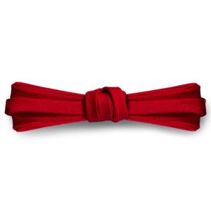 Плоские шнурки 100 см, ширина 9мм – Красные
