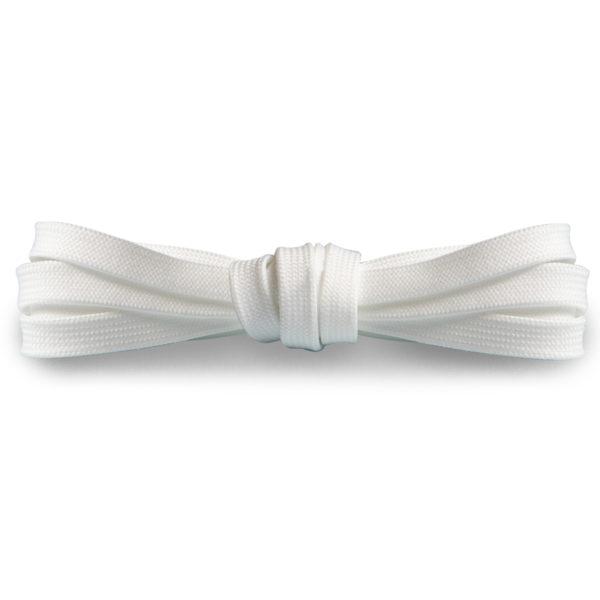 Плоские шнурки 100 см, ширина 9мм – Белые