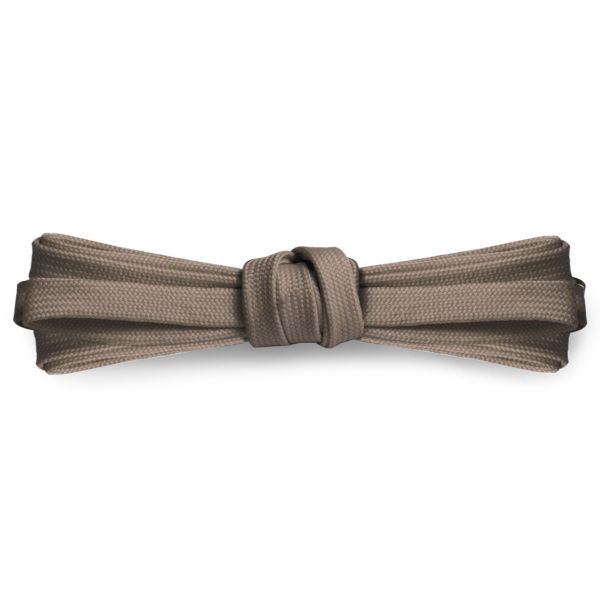 Плоские шнурки 120 см, ширина 9мм – Серо-коричневые