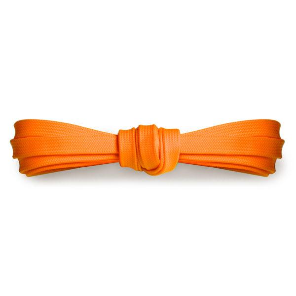 Плоские шнурки 120 см, ширина 9мм – Кислотно-оранжевые