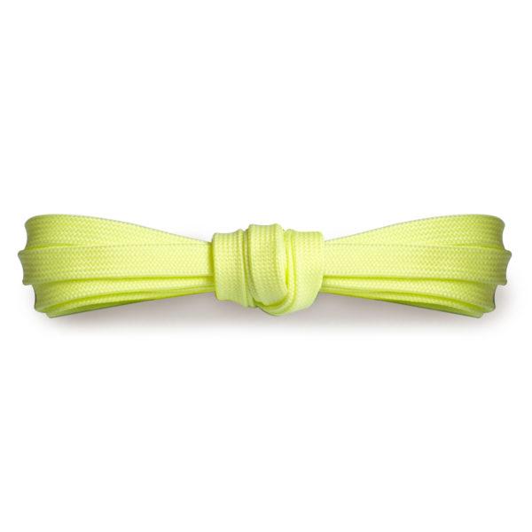 Плоские шнурки 120 см, ширина 9мм – Светло-желтые