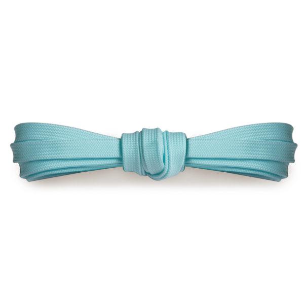 Плоские шнурки 120 см, ширина 9мм – Светло-голубые