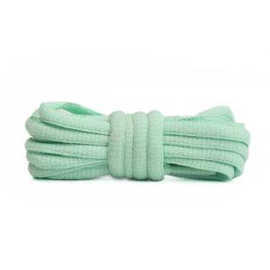 Шнурки овальные 120см –  Мятно-зеленые