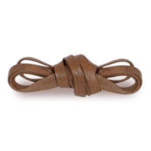 Плоские вощеные шнурки 100 см – Светло-Коричневые